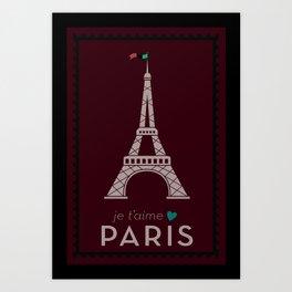 Je t'amie Paris Art Print