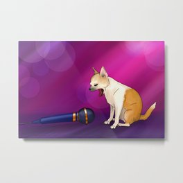 The Singing Chihuahua Metal Print