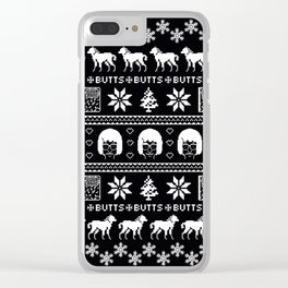 merry x-mas Clear iPhone Case