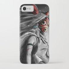 Miyazaki's Mononoke Hime Digital Painting the Wolf Princess Warrior Color Variation iPhone 7 Slim Case