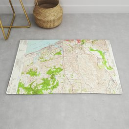 San Luis Rey, CA from 1948 Vintage Map - High Quality Rug