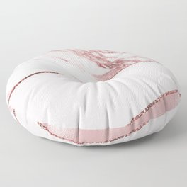 Spliced mixed pinks rose gold marble Floor Pillow