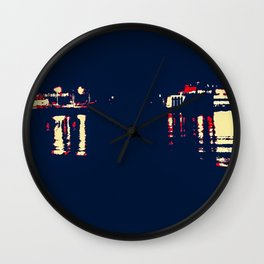 Dark Arrivals - Ferry series I Wall Clock