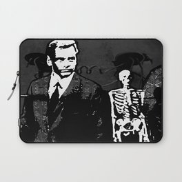 Dr. Hughes And The Skeleton In His Classroom Laptop Sleeve
