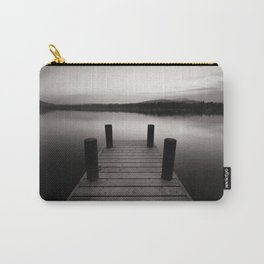 Wooden jetty on lake Windermere Carry-All Pouch