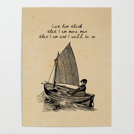 Ernest Hemingway - The Old Man and the Sea Poster