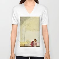 child V-neck T-shirts featuring Child by Dukewow Nukemwow