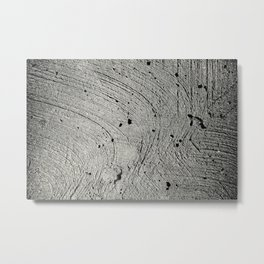 Holes in the cement surface Metal Print