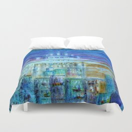 Italy by night Duvet Cover