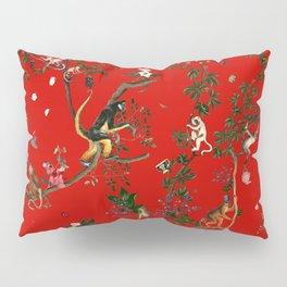 Monkey World Red Pillow Sham