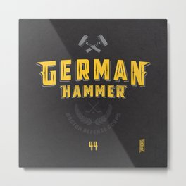 German Hammer Metal Print