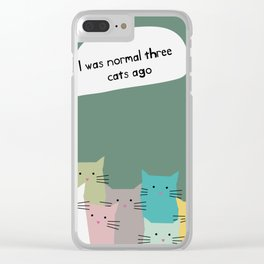 CRAZY cat person Clear iPhone Case