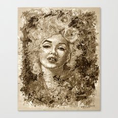 blonde bombshell - sepia version Canvas Print
