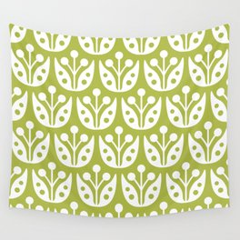 Mid Century Flower Pattern 5 Wall Tapestry