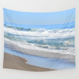 Baby Blue Ocean Wall Tapestry