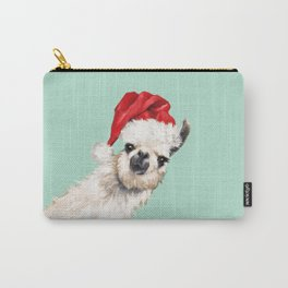 Christmas Sneaky Llama Carry-All Pouch