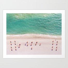 Orange Umbrellas Art Print