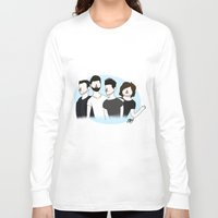 bastille Long Sleeve T-shirts featuring Bastille v2 by Eriboo