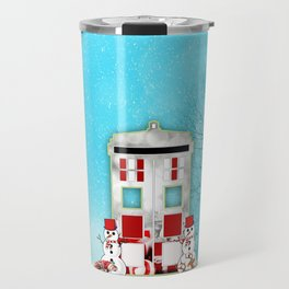 Tardis Santa Travel Mug