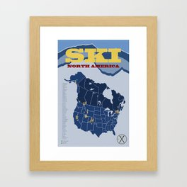 Ski North America Framed Art Print