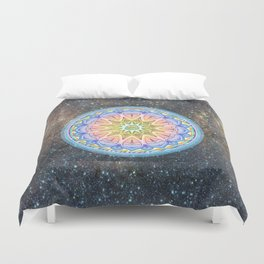 Space Mandala Duvet Cover