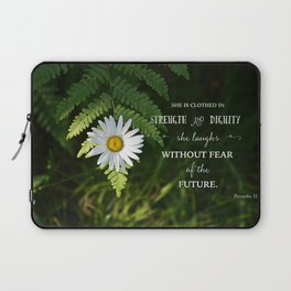 Clothed with Strength Laptop Sleeve