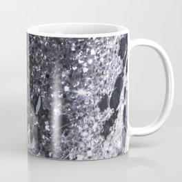 Black and Gray Glitter Bomb Coffee Mug