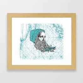 Ahoi Sailor Hauke Framed Art Print