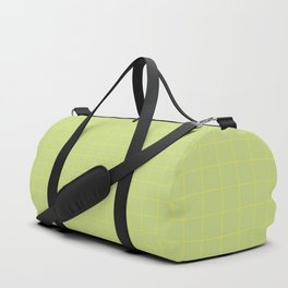 Green with Yellow Lines Duffle Bag