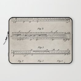 Engineering Patent - Engineers Slide Rule Art - Antique Laptop Sleeve