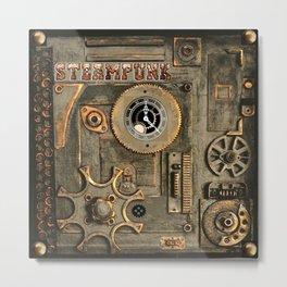 Steampunk Mechanism Metal Print