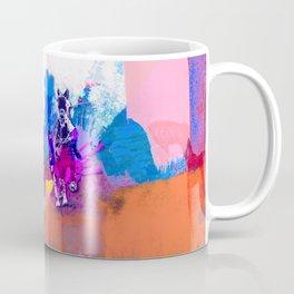 polo abstract red blue Coffee Mug