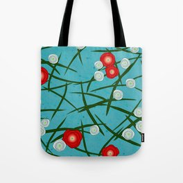 Japenese Water Flowers Pattern Tote Bag