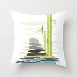 Feng shui meditation Throw Pillow