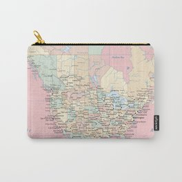 World Map North America Carry-All Pouch