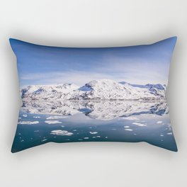 The World Above and Below the Ice Rectangular Pillow