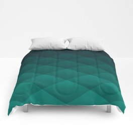 Graphic 949 // Grid Teal Fade Comforters