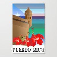 puerto rico Canvas Prints featuring Puerto Rico, Puerto Rico! by PADMA DESIGNS PR