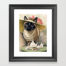 Lady Cat Framed Art Print