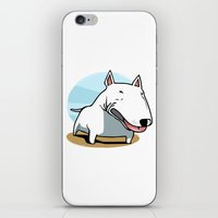 bull terrier iPhone & iPod Skins featuring Bull Terrier by Jaume Tenes
