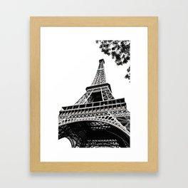Eiffel Tower in Paris, France. Framed Art Print