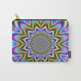 Psychedelic Flower Carry-All Pouch