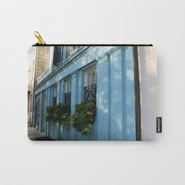 Blue House With Window Box Carry-All Pouch