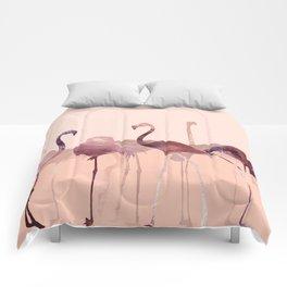 Summer Flamingos Comforters