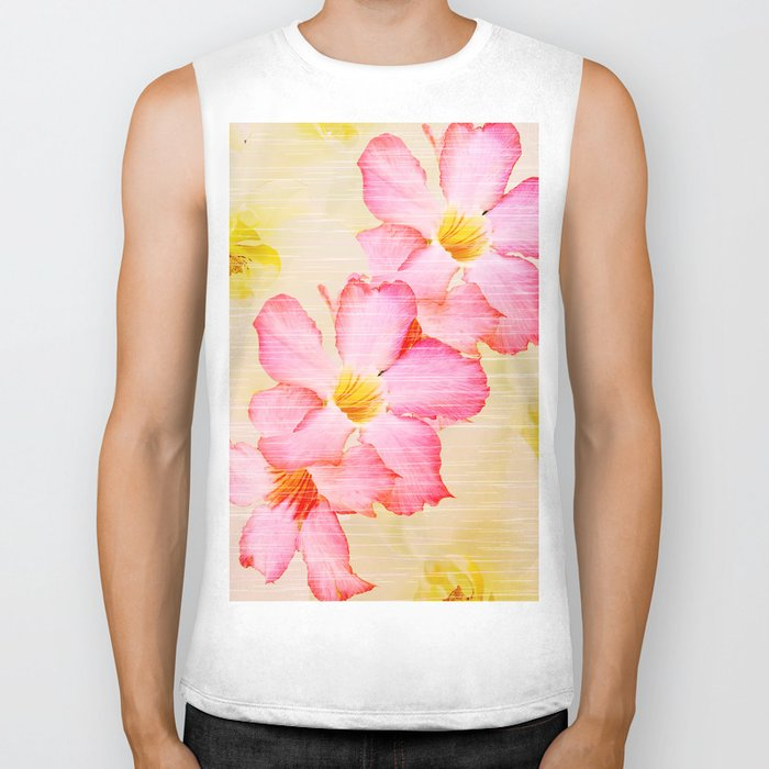 Desert Rose and Orchids  Biker Tank