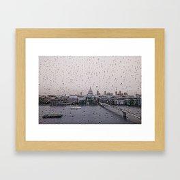 Rainy St. Paul's Framed Art Print