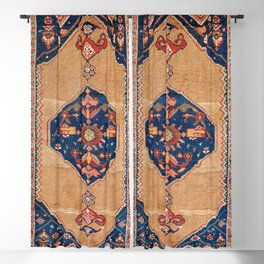 Bijar Kurdish Northwest Persian Rug Print Blackout Curtain