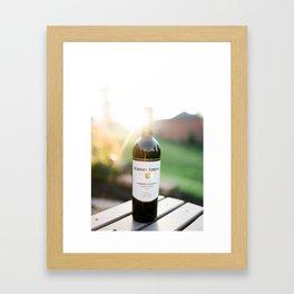 Wine and the Sunset Framed Art Print