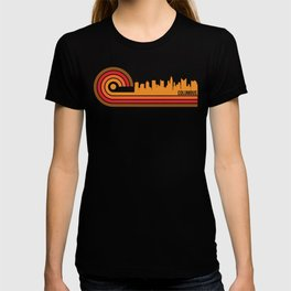 Retro Style Columbus Ohio Skyline T-shirt