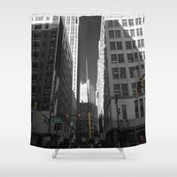 detroit Shower Curtains featuring Detroit  by Galaxys_Limit